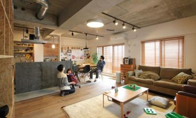 LDK|壁をつくらない 空間の仕切り方(鶴見区 I邸マンションリノベーション)