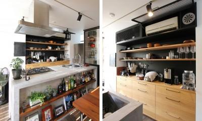 素材が変わる 家が変わる(渋谷 C邸戸建てリノベーション) (キッチン)