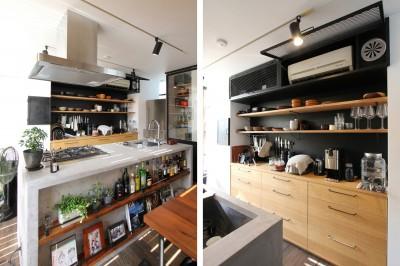 キッチン (素材が変わる 家が変わる(渋谷 C邸戸建てリノベーション))