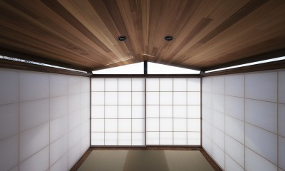 東京の崖地に浮かぶ絶景の住処 (畳の間)