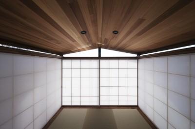 畳の間 (東京の崖地に浮かぶ絶景の住処)