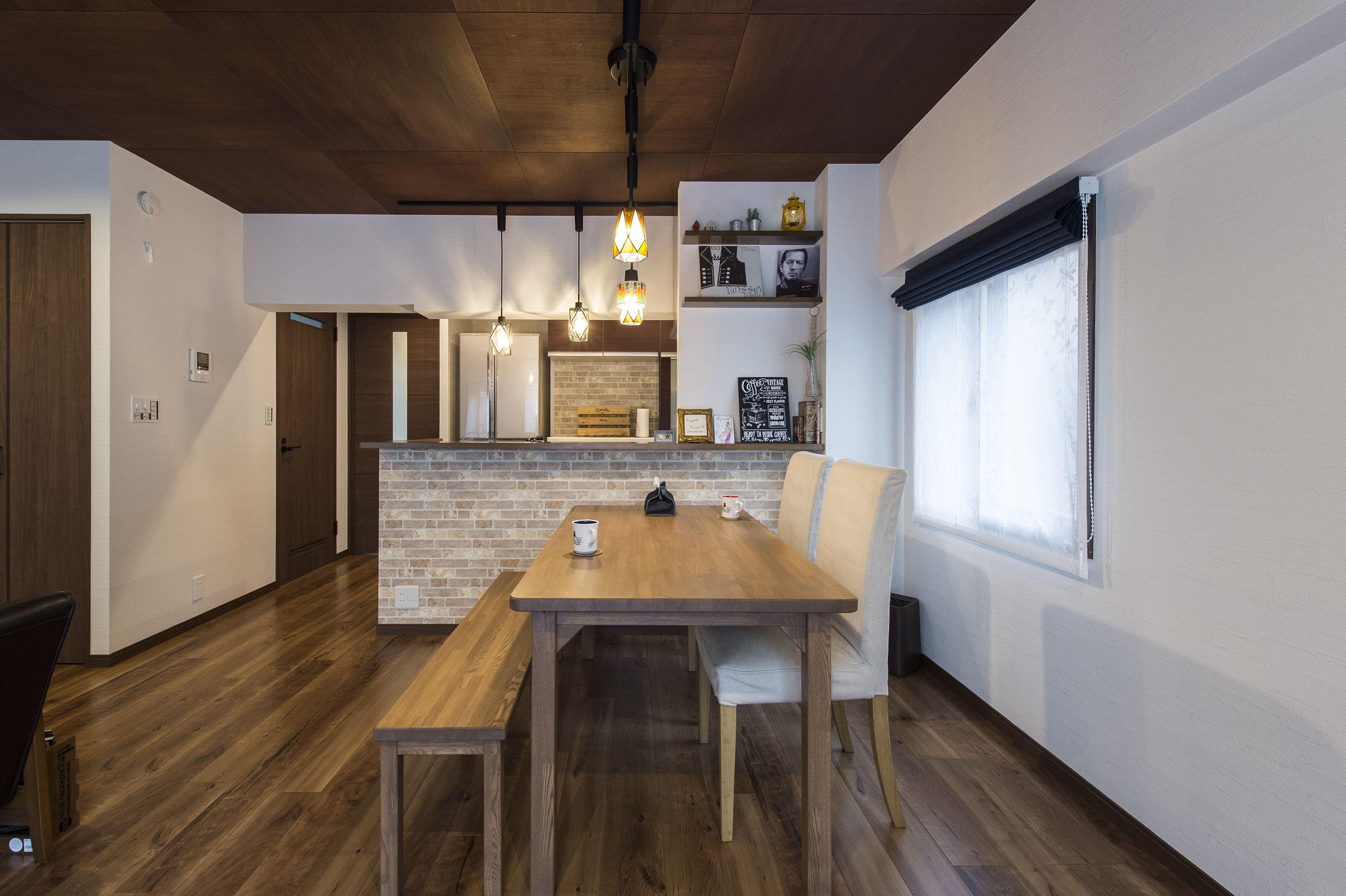 [リノベーション]名古屋市S邸 #大人カフェ #家づくりから思い出づくり (キッチン・ダイニング)