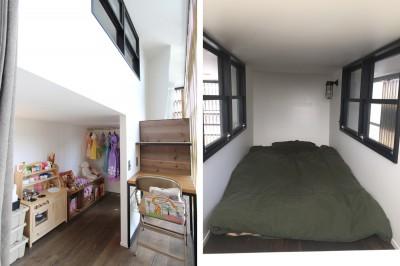 子供部屋 (素材が変わる 家が変わる(渋谷 C邸戸建てリノベーション))