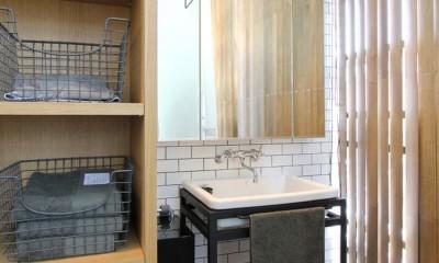 素材が変わる 家が変わる(渋谷 C邸戸建てリノベーション) (洗面室)