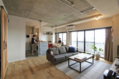 "LDK (""DIY ROOM""で家作りは続く(東大宮 K邸マンションリノベーション))"