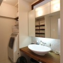 日吉N邸 マンションリノベーションの写真 洗面室