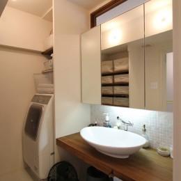 日吉N邸 マンションリノベーション (洗面室)