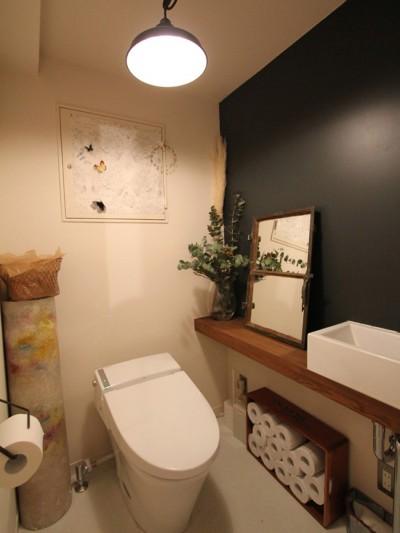 トイレ (日吉N邸 マンションリノベーション)