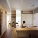 H邸リノベーション ー子供部屋と書斎をつくるの写真 キッチンからの眺め
