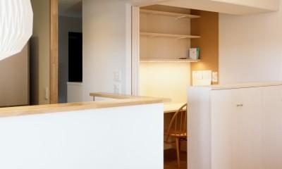 書斎コーナー|H邸リノベーション ー子供部屋と書斎をつくる