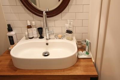 洗面室 (恵比寿マンションリノベーション)