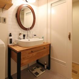 恵比寿マンションリノベーション (洗面室)
