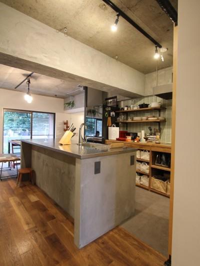 趣味を楽しむ小部屋を作らないリノベーション(湯島 S邸マンションリノベーション) (キッチン)