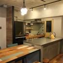 趣味を楽しむ小部屋を作らないリノベーション(湯島 S邸マンションリノベーション)の写真 ダイニングキッチン