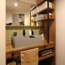 趣味を楽しむ小部屋を作らないリノベーション(湯島 S邸マンションリノベーション)の写真 洗面室