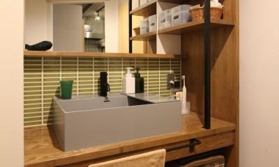 洗面室|趣味を楽しむ小部屋を作らないリノベーション(湯島 S邸マンションリノベーション)