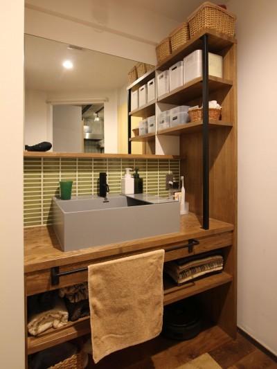 洗面室 (趣味を楽しむ小部屋を作らないリノベーション(湯島 S邸マンションリノベーション))