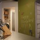 趣味を楽しむ小部屋を作らないリノベーション(湯島 S邸マンションリノベーション)の写真 リビングダイニング