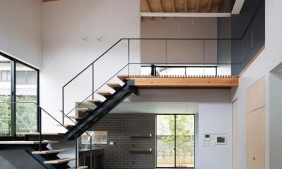 赤坂台の家 (リビング階段)