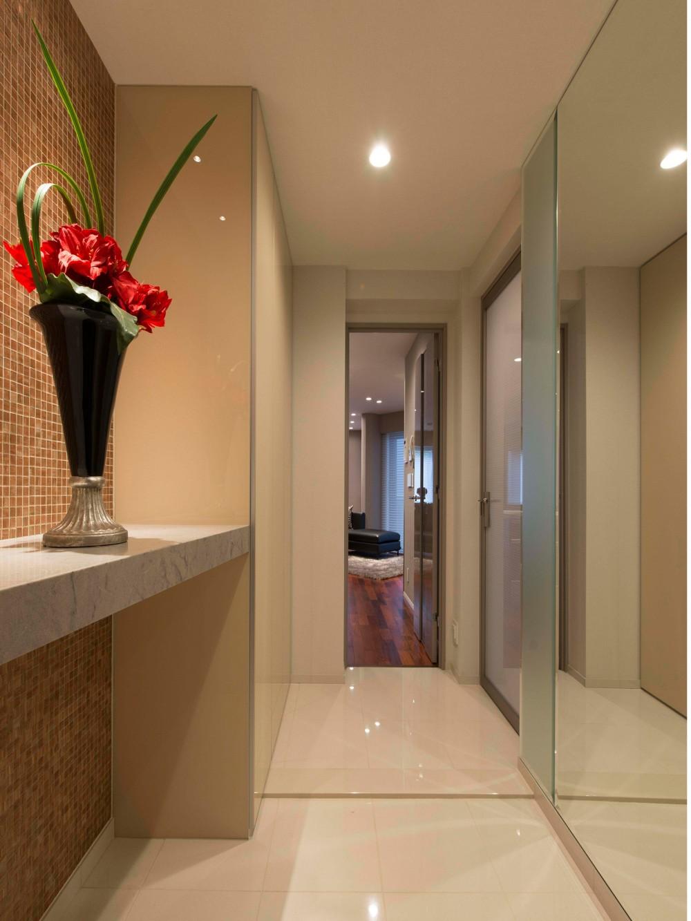 青山のマンション~都心のマンションを一新!夫婦2人の夢の暮らしを実現するプレミアム・デザイナーズ リノベーション~ (玄関)