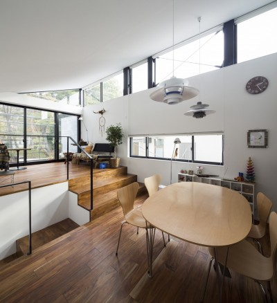 仙川の家~周辺環境を活かした住宅~ (LDK)