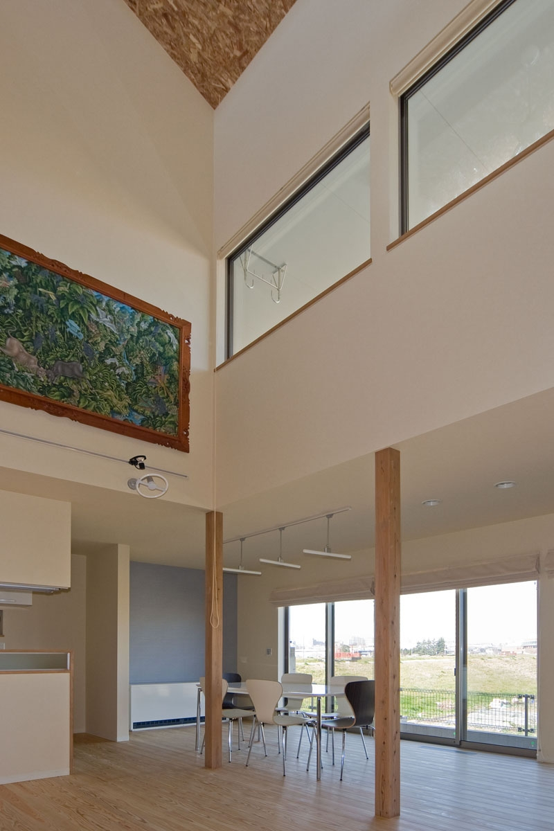 建築家:米村和夫「音楽室のある家/土手の見えるハッピーファミリーハウス」