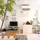 猫と暮らす、二世帯住宅(成城学園前 戸建てリノベーション)の写真 リビング(1階)