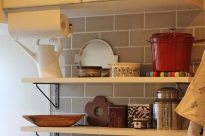 キッチン(1階) (猫と暮らす、二世帯住宅(成城学園前 戸建てリノベーション))