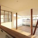 猫と暮らす、二世帯住宅(成城学園前 戸建てリノベーション)の写真 リビングダイニング(2階)
