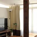 猫と暮らす、二世帯住宅(成城学園前 戸建てリノベーション)の写真 リビング(2階)