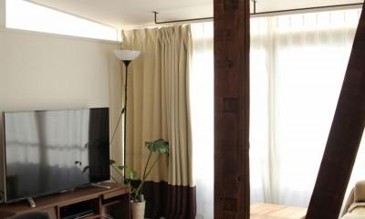 猫と暮らす、二世帯住宅(成城学園前 戸建てリノベーション) (リビング(2階))