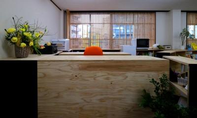 受付カウンター|OFFICE WOLISU~16名で囲む大テーブル~