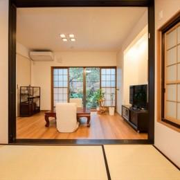 リノベーション・リフォーム会社 東急ホームズのまるごとリフォームの住宅事例「四季折々の自然を愉しめる、くつろぎのリビングが誕生」