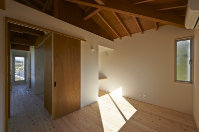 個室 (斜の屋根の家)