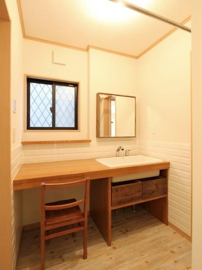 洗面室 (旭区 戸建てリノベーション)