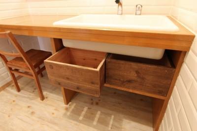 洗面カウンター (旭区 戸建てリノベーション)