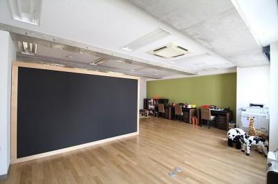 黒板のオフィス (仕事が楽しくなる、木と黒板のオフィス)