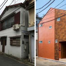 建築家 (株)小木野貴光アトリエ一級建築士事務所の住宅事例「ビフォーアフター、リノベーションでお洒落な外観になる賃貸住宅」