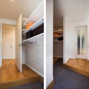 小木野貴光 | 小木野仁美の住宅事例「快適な玄関収納とは?仕舞うだけではない、コート掛けなど色々な工夫で機能が加わる家」