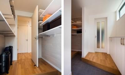 快適な玄関収納とは?仕舞うだけではない、コート掛けなど色々な工夫で機能が加わる家