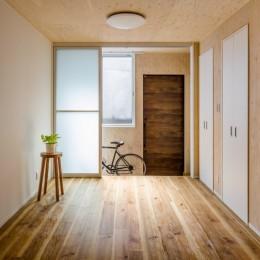 土間空間は見える収納で、使い勝手のよい家