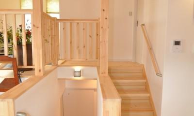 南平の家 (スキップフロア 階段)