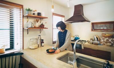 kvalitet (モールテックスを使用したキッチン)