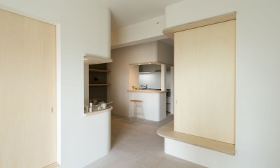 room ∩ rooms ― マンションリノベーション (オープンルーム(リビング・ダイニング・縁側))