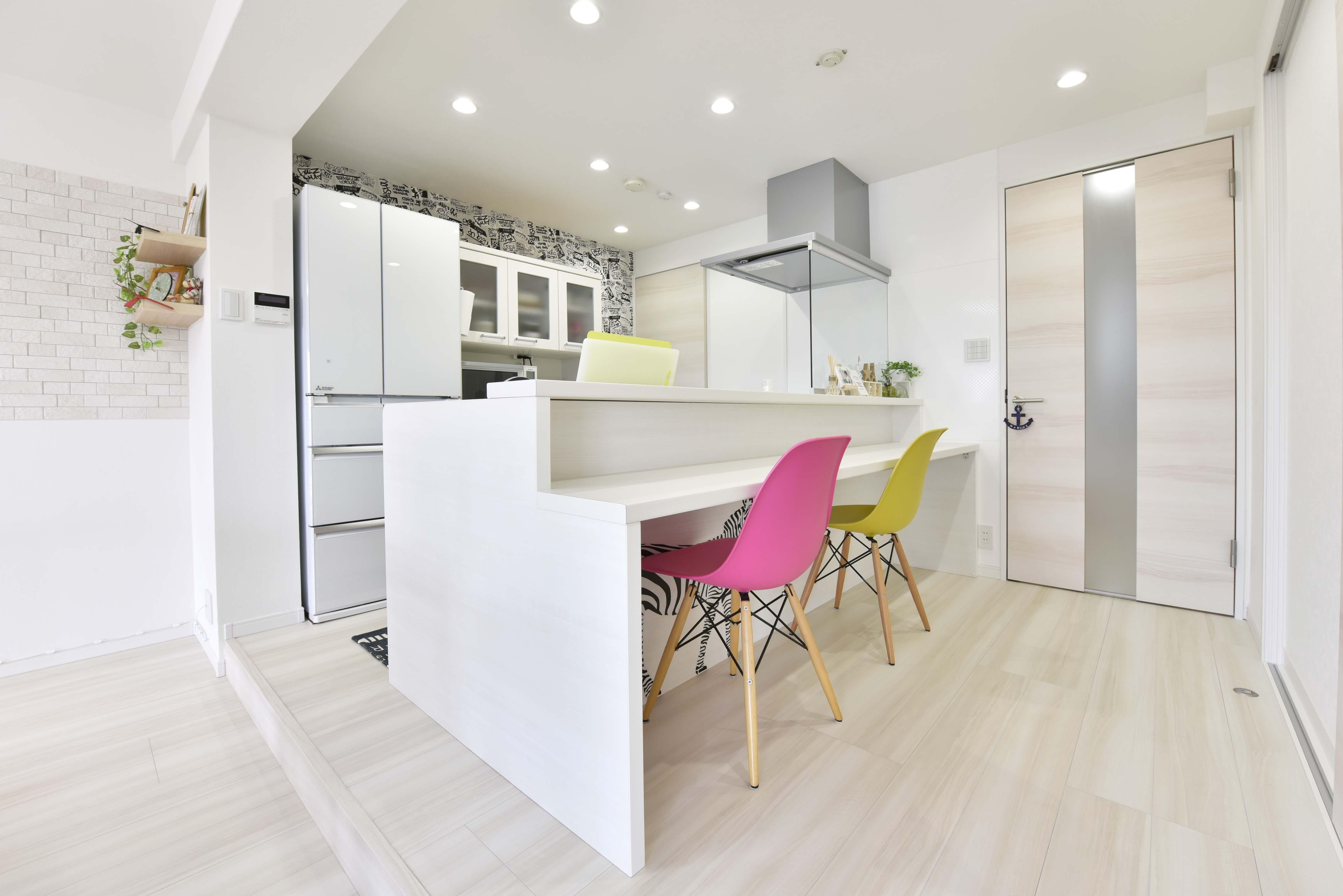 キッチン事例:キッチン(家族のための明るいおうち)