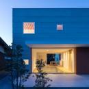 米原の家の写真 南側外観夕景