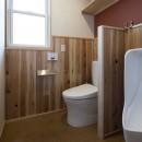 緑が繋ぐ二世帯の家の写真 トイレ