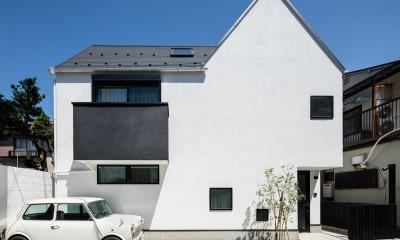 デザイン住宅外観いろいろ (ミニの似合う白い家 オウチ36)