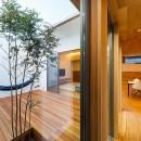 haus-flow/地域のオアシスとしての平屋中庭付き住宅の写真 haus-flow 廊下&中庭