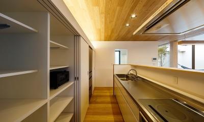 haus-flow キッチン|haus-flow/地域のオアシスとしての平屋中庭付き住宅